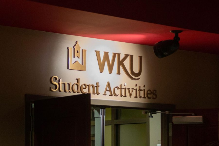 The WKU Student Activies Office on the 2nd floor of the Downing Student Union on Sept. 3, 2020.