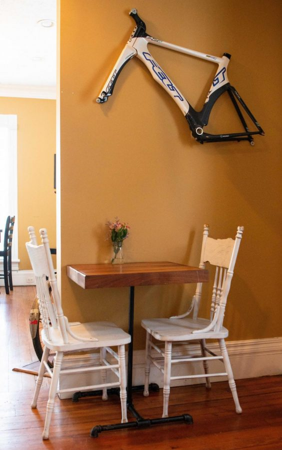 The Bike Rack Bistro is filled with various bike-related decorations to stay true to its name. The bistro will have been open for five years this coming June.