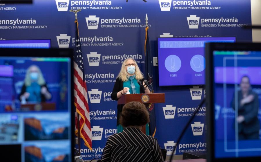 Pennsylvania+Secretary+of+Health+Dr.+Rachel+Levine+discusses+the+state%27s+COVID-19+vaccination+plan+on+Nov.+19%2C+2020.