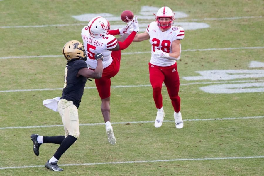 Nebraska%27s+Cam+Taylor-Britt+breaks+up+a+pass+intended+for+Purdue%27s+David+Bell%C2%A0+on+Saturday+in+West+Lafayette%2C+Ind.