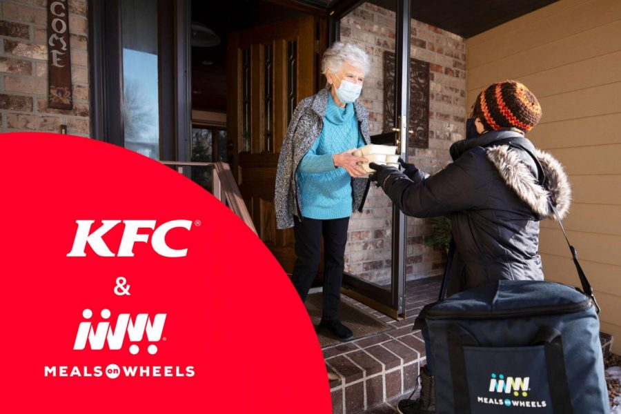 KFC and Meals on Wheels America are teaming up to help seniors across the country who have been adversely affected by the COVID-19 pandemic. Demand for services has at least doubled for most Meals on Wheels programs, and KFC is donating chicken for Meals on Wheels to use in the preparation of meals for seniors in need.
