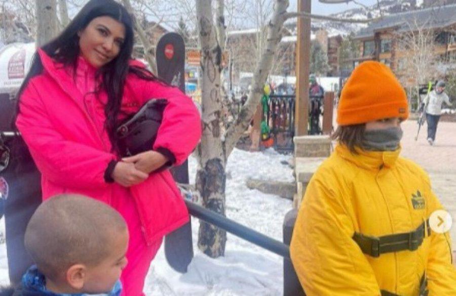 Kourtney Kardashian had 'a fun trip' in the snow