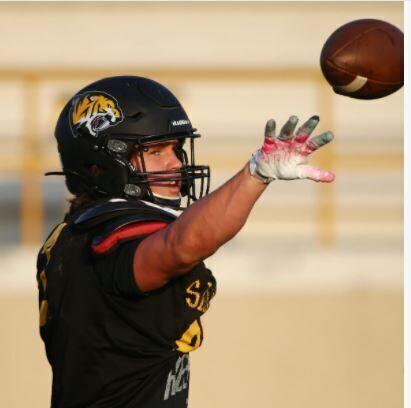 Saguaro defensive end Tristan Monday during practice at Saguaro High.