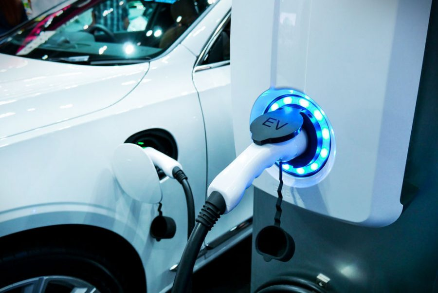 FILE - Electric Vehicle charging
