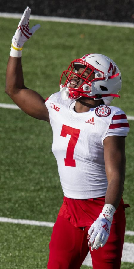 Nebraska%27s+Dicaprio+Bootle+celebrates+a+first-half+interception+against+Iowa+on+Friday+at+Kinnick+Stadium+in+Iowa+City%2C+Iowa.