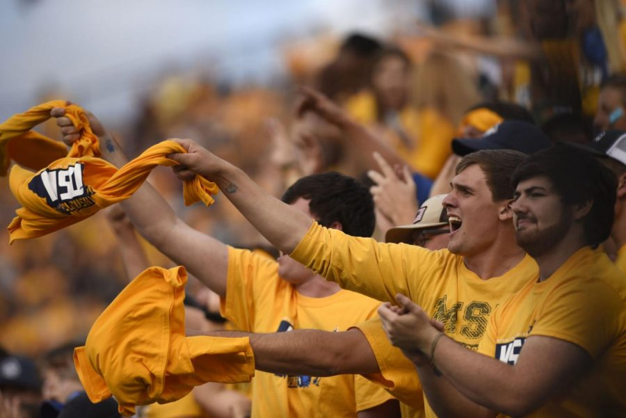 Montana+State+fans+celebrate+during+the+Gold+Rush+game+on+Sept.+7%2C+2019%2C+at+Bobcat+Stadium.