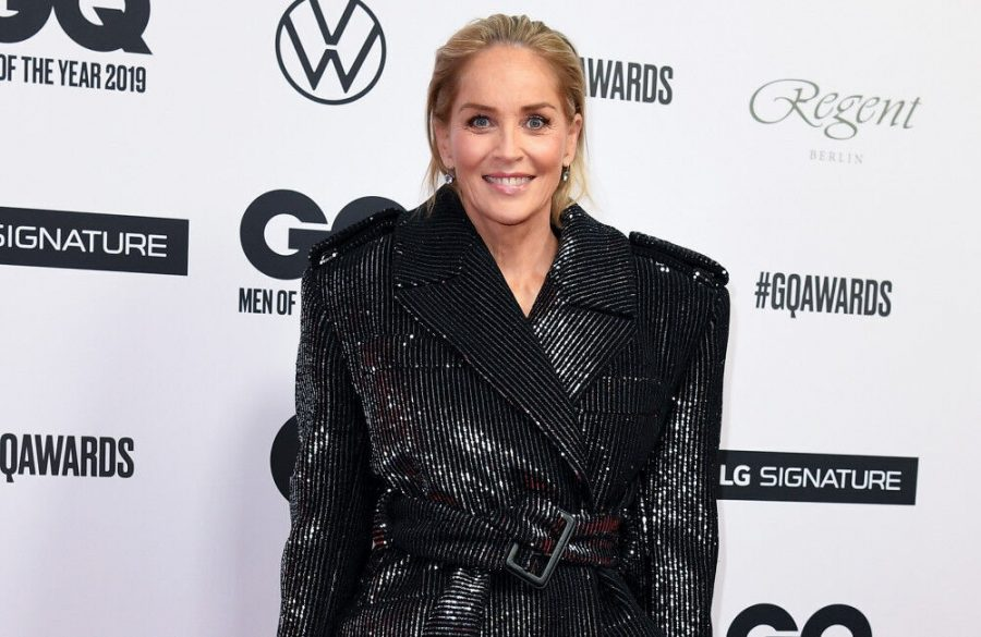 Sharon Stone receives first dose of COVID-19 jab