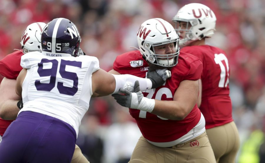 Badgers' body changes outnumber position changes on spring football roster