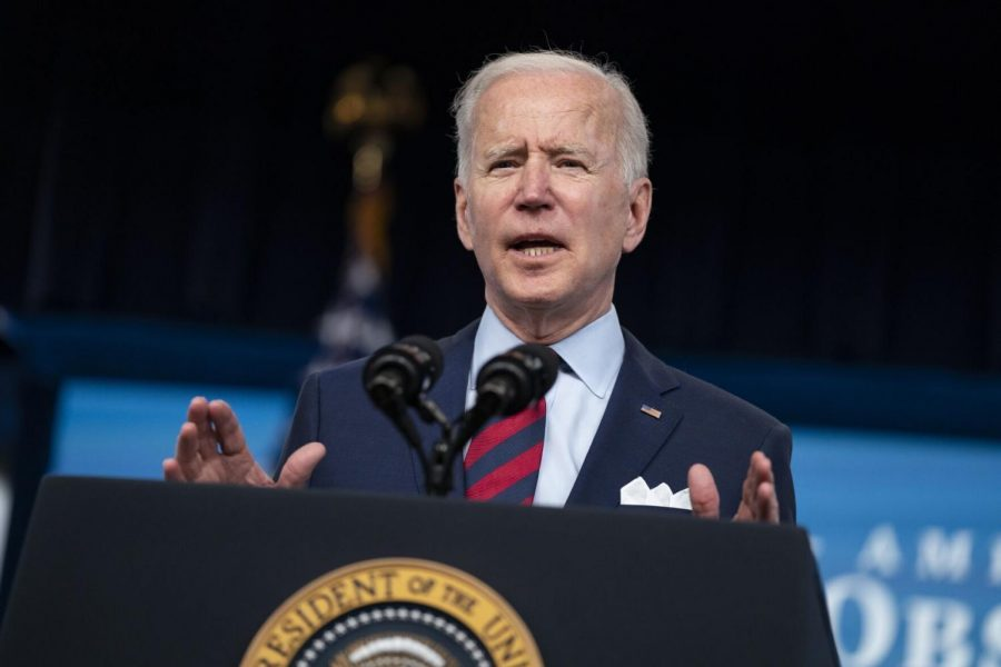 President+Joe+Biden+speaks+during+an+event+on+the+American+Jobs+Plan+in+the+South+Court+Auditorium+on+the+White+House+campus%2C+Wednesday%2C+April+7%2C+2021%2C+in+Washington.