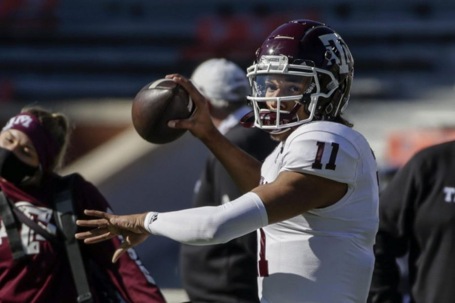 Quarterback Kellen Mond led Texas A&M to a 9-1 record and a victory in the Orange Bowl last season.