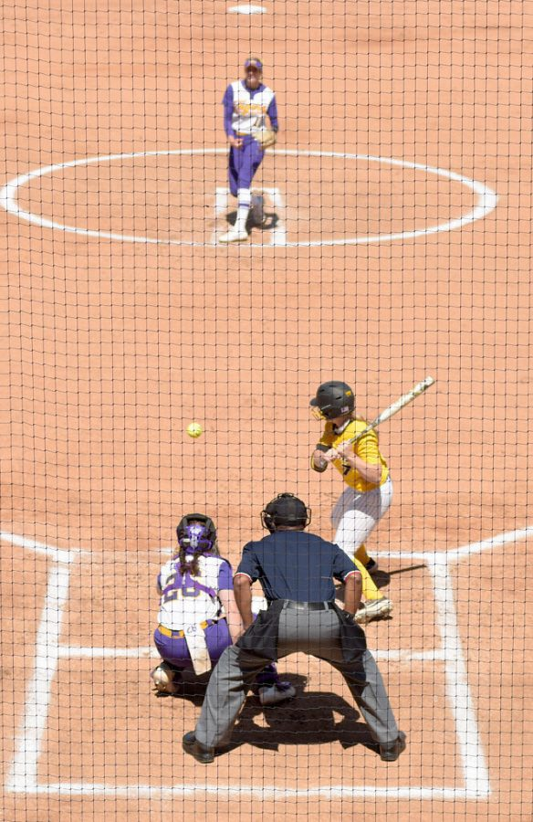 Missouris Brooke Wilmes bats during the Tigers second game of a doubleheader against LSU on Sunday in Columbia. Wilmes made her 200th hit playing for MU in the sixth inning, becoming the 14th softball player at MU to achieve the accolade.