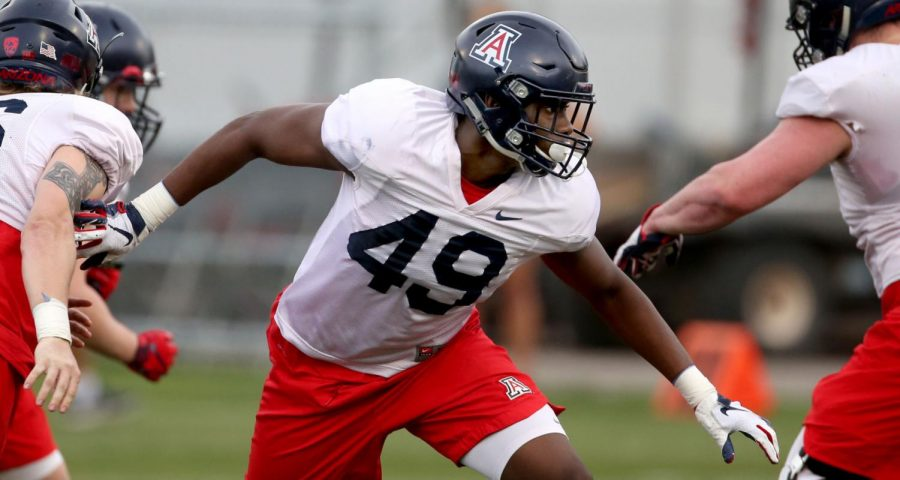 Jalen Harris and the UA defensive line have had a strong 2021 spring camp under Ricky Hunley and Don Brown.