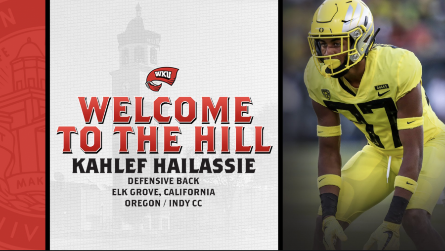 WKU added defensive back Kahlef Hailassie on Tuesday April 6, 2021 prior to the ensuing fall season.