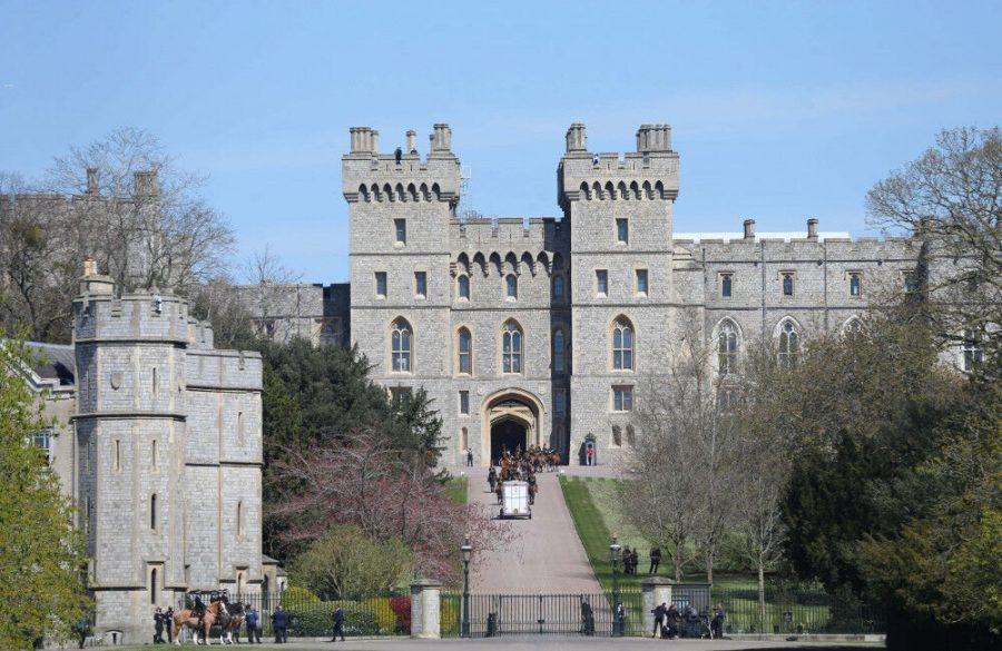 Prince Philips coffin moved to Windsor Castles inner hall ahead of funeral