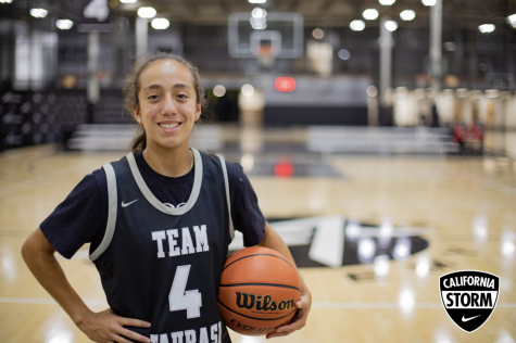 Photo of Alexis Mead courtesy of Cal Storm basketballs website.