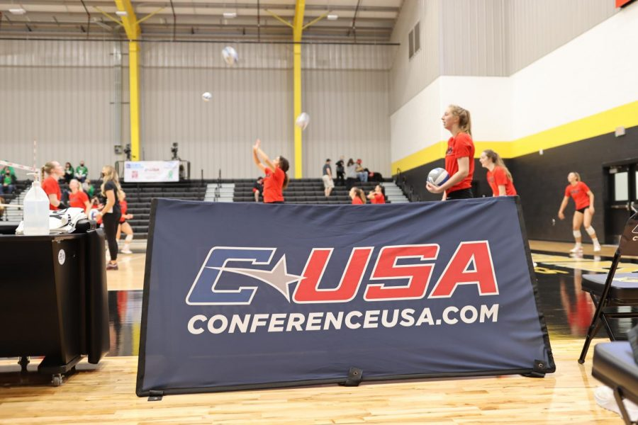 The+Conference+USA+Volleyball+Championship+began+on+April+1%2C+2021.+WKU+swept+North+Texas+in+three+sets+to+advance+to+the+semifinal.%C2%A0