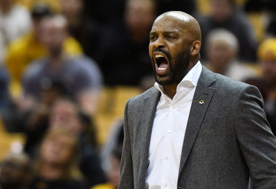 MU men's basketball coach Cuonzo Martin shouts at his team Feb. 18, 2020, at Mizzou Arena. He talked Wednesday about the transfer portal and what to expect from the team next season.