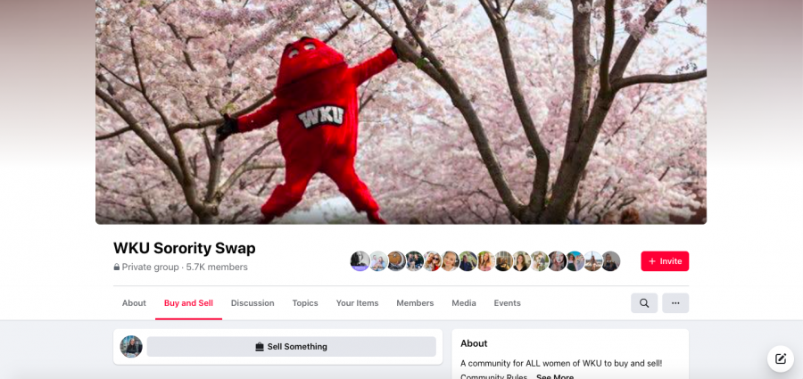 Screenshot of WKU Soroity Swap Facebook group courtesy of Ellie Tolbert