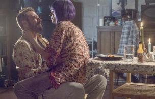 Jeffrey Dean Morgan as Negan, Hilarie Burton Morgan as Lucille - The Walking Dead _ Season 10 - Photo Credit: Josh Stringer/AMC
