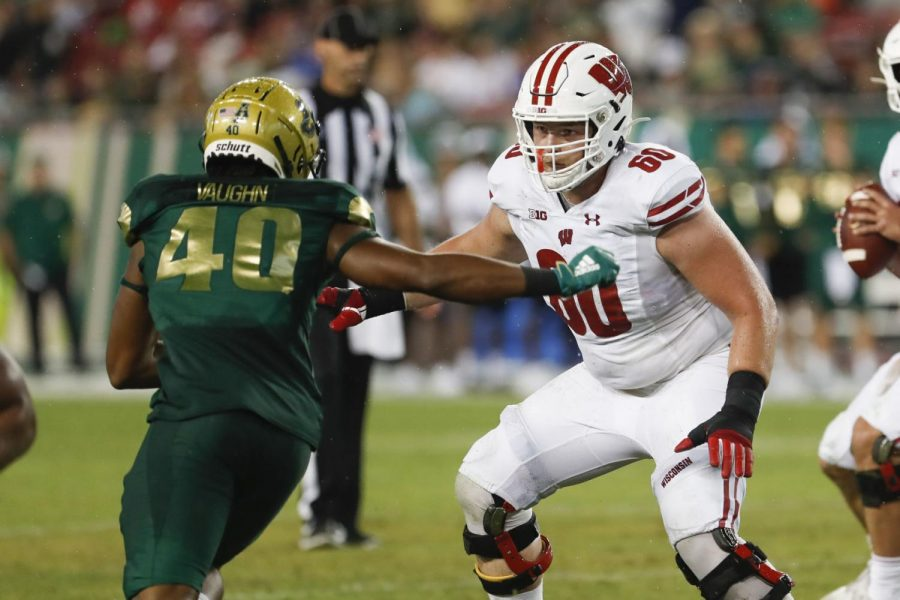 Logan Bruss embraces leadership role on Badgers' offensive line