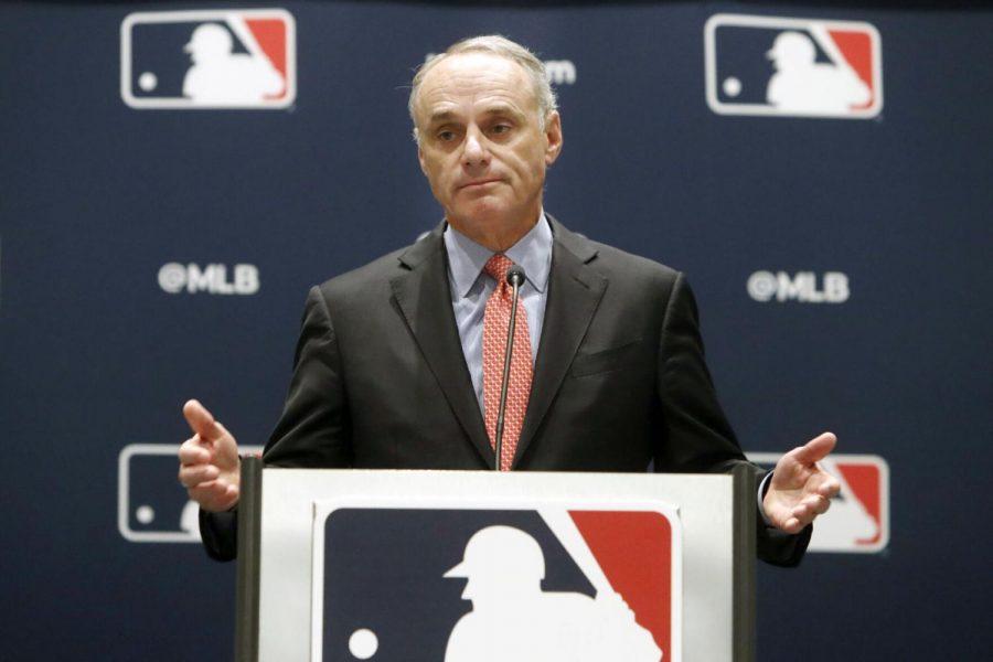 Baseball+commissioner+Rob+Manfred