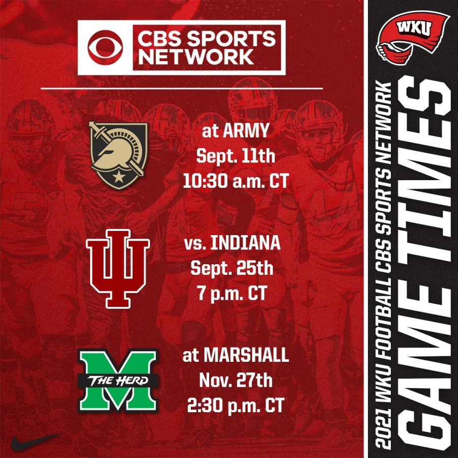 Start+times+for+WKU+Footballs+CBS+games+announced