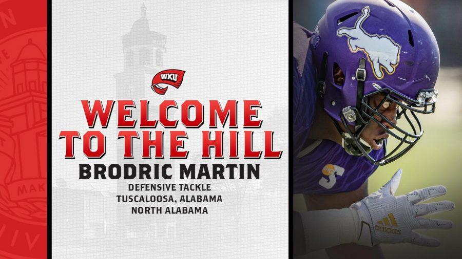 WKU Football signs North Alabama transfer Brodric Martin