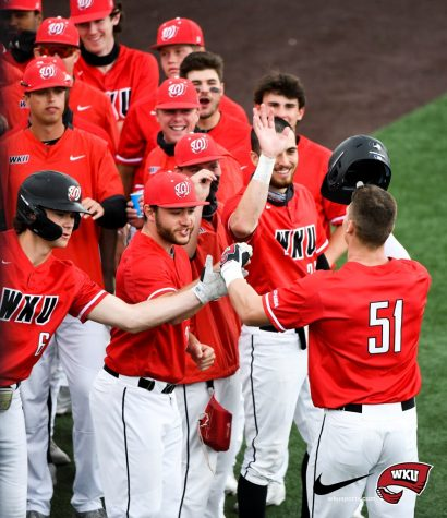 MTSU Blue Raiders at WKU Hilltoppers on April 18, 2021 at Nick Denes Field in Bowling Green, KY