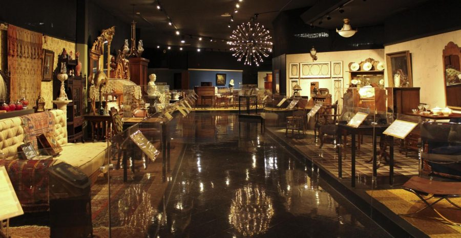 The Snell-Franklin Decorative Arts Gallery shows decor and furniture from several time periods starting around the 1800s to present.