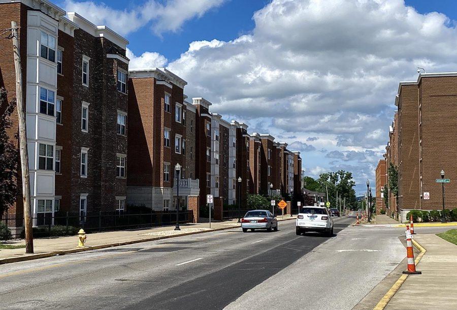 The process for road paving has begun on Kentucky Street next to Kentucky Street Apartments.