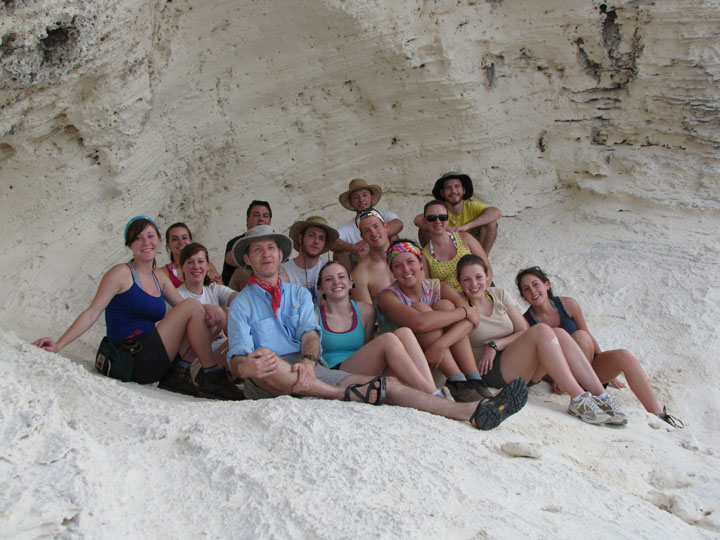 A group of students studied geology in the Bahamas during the winter term of 2010. Photo provided by WKU News.