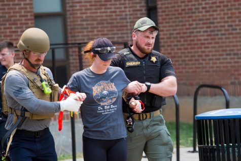 Several local law enforcement agencies, emergencies medical services and the fire department participated in an active shooter training.