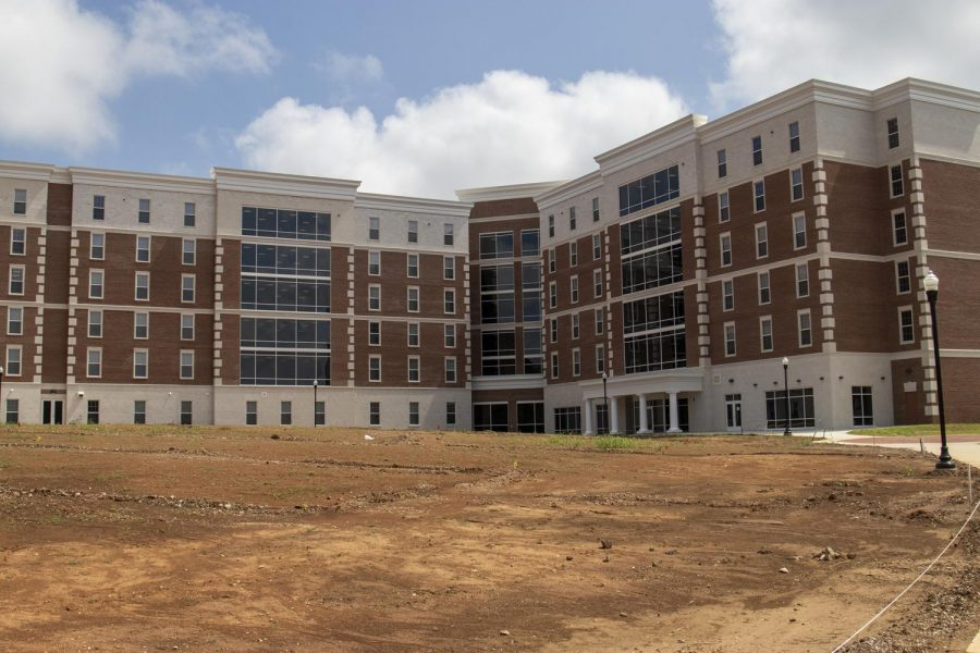 The lawn behind Normal Hall has yet to be finished as of Aug. 22, 2021.