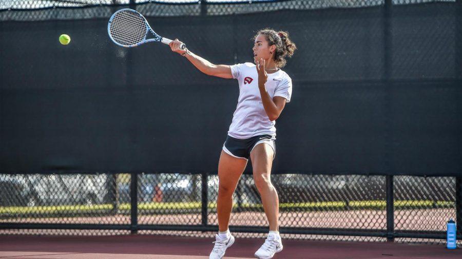 WKU senior Laura Bernardos went 6-7 in singles play and 6-8 in doubles across the 2020 tennis season.