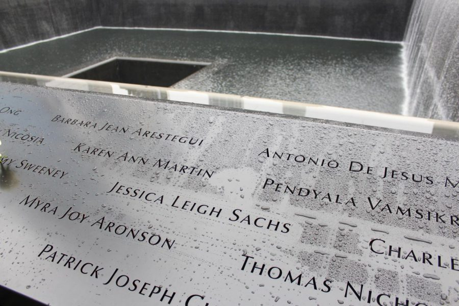 Jessica Leigh Sachs is recognized on the North Tower memorial at ground zero in New York City, New York.
