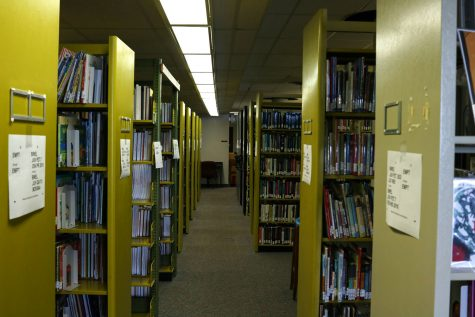 Rows of books inside of Cravens Library on Sept. 29, 2021