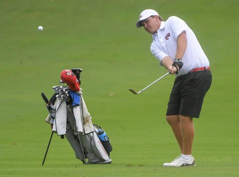 WKU Golf junior Luke Fuller tied his career-low of 4-under 68 during the final day of competition at the Jim Rivers Intercollegiate on Sept. 14, 2021.