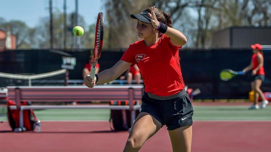 WKU Tennis sophomore Samantha Martinez went 2-1 in singles play during the UC/Pam Whitehead Invitational on Sept. 17-18 in Cincinnati, Ohio.