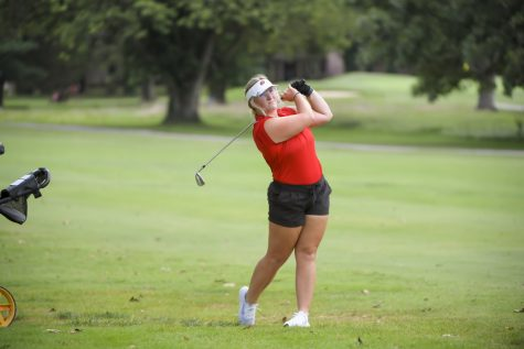 WKU senior Kenlie Barrett, a transfer from Sam Houston State, finished the Paladin Invitational tied for 27th place after shooting a 7-over 223.