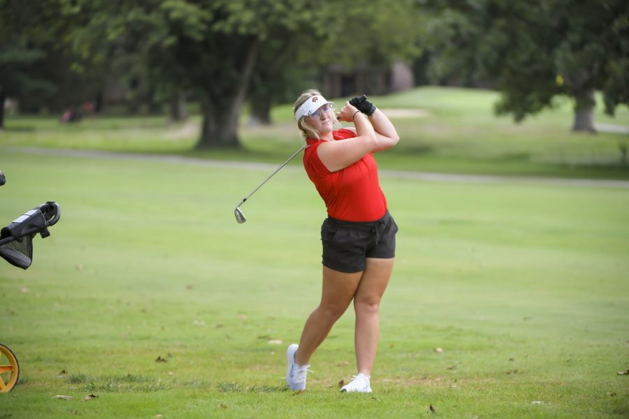 WKU senior Kenlie Barrett, a transfer from Sam Houston State, finished the Paladin Invitational tied for 27th place after shooting a 4-over 223.