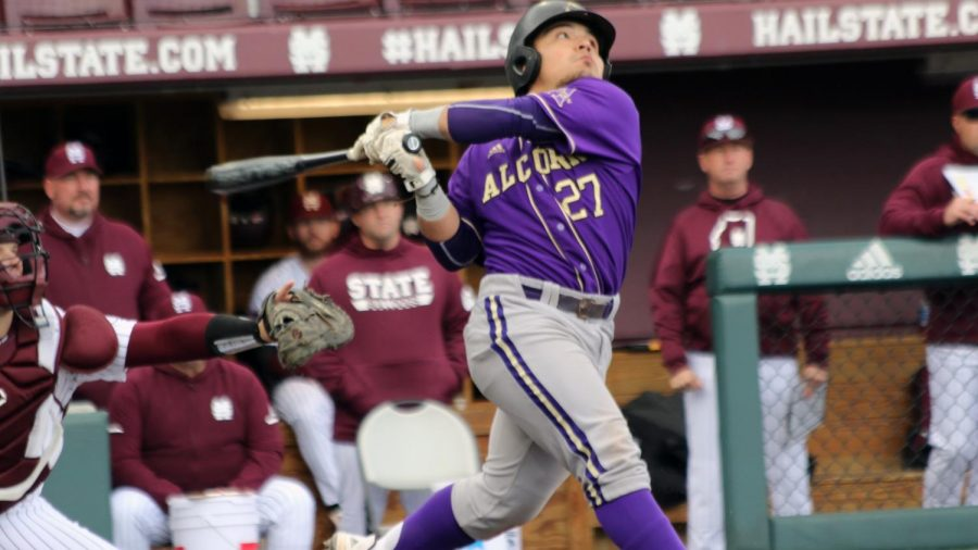 Alcon+States+Tristin+Garcia+%2821%29+transferred+to+the+Hill+for+the+2022+baseball+season.+Garcia+attended+Male+High+School+in+Louisville+and+had+the+third-best+batting+average+in+the+nation+this+year+%28.445%29.