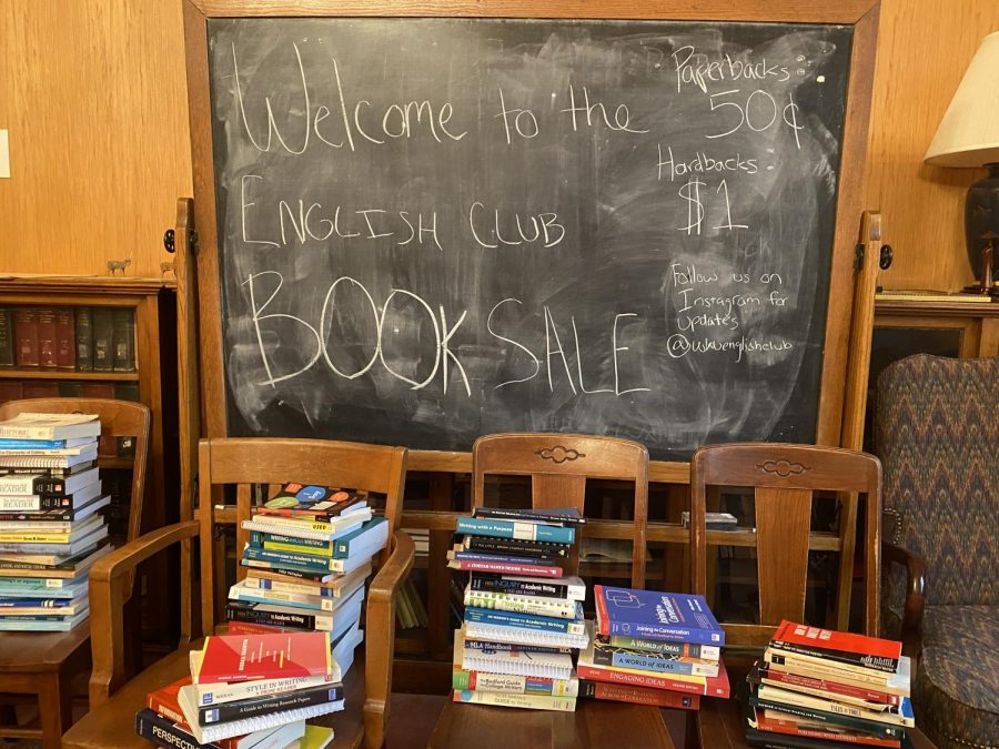 The English Club hosts book sale in Cherry Hall