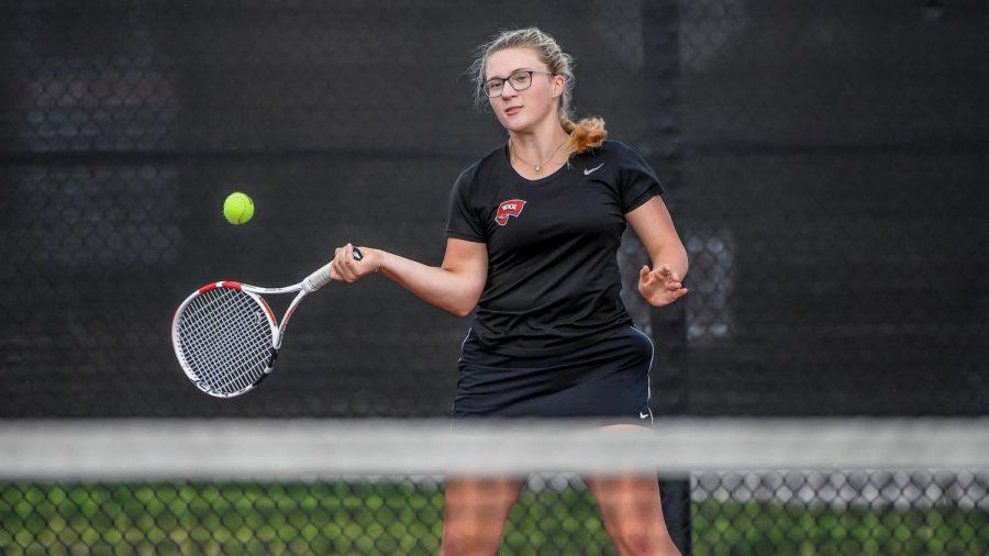 WKU redshirt junior Cora-Lynn von Dungern went 3-0 in doubles play across the Samford Round Robin in Birmingham, Alabama on Oct. 8-10, 2021.