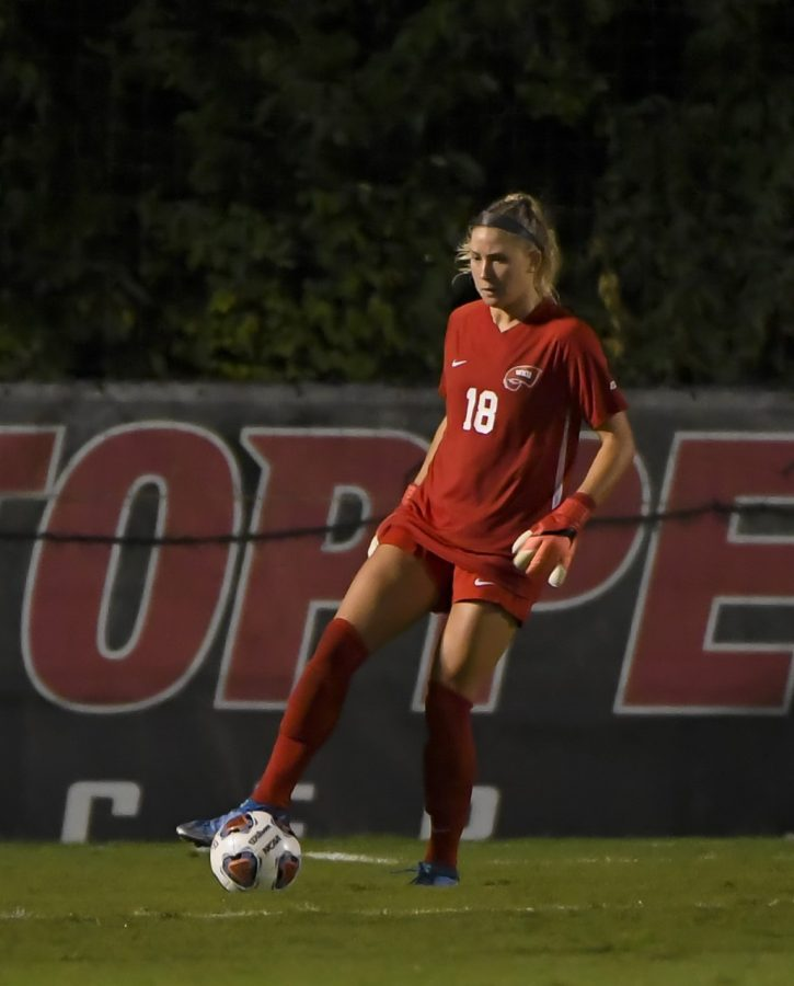 WKU+goalkeeper+Alexis+Bach+%2818%29+was+awarded+Conference+USA+Keeper+of+the+Week+honors+on+Tuesday%2C+Oct.+5+following+her+perfect+performance+against+the+Rice+Owls.